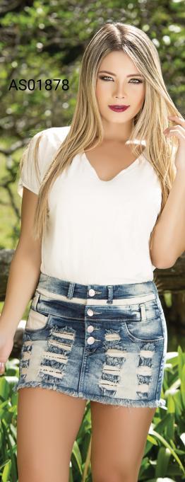 Minifalda en Jean