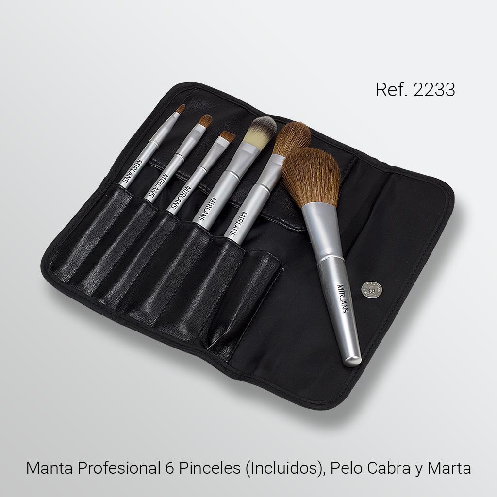 Manta Profesional 6 Pinceles (Incluidos), Pelo Cabra y Marta